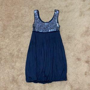 Forever 21 Navy Sequin Dress